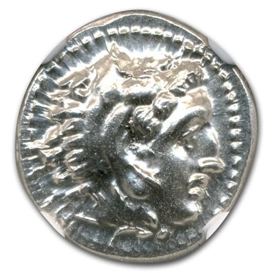 Macedonia AR Drachm Emperor Alexander III (336-323 BC) CH MS NGC