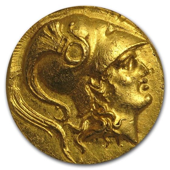 Macedonia Gold Stater of Alexander III (323-317 BC) AU-55 ANACS