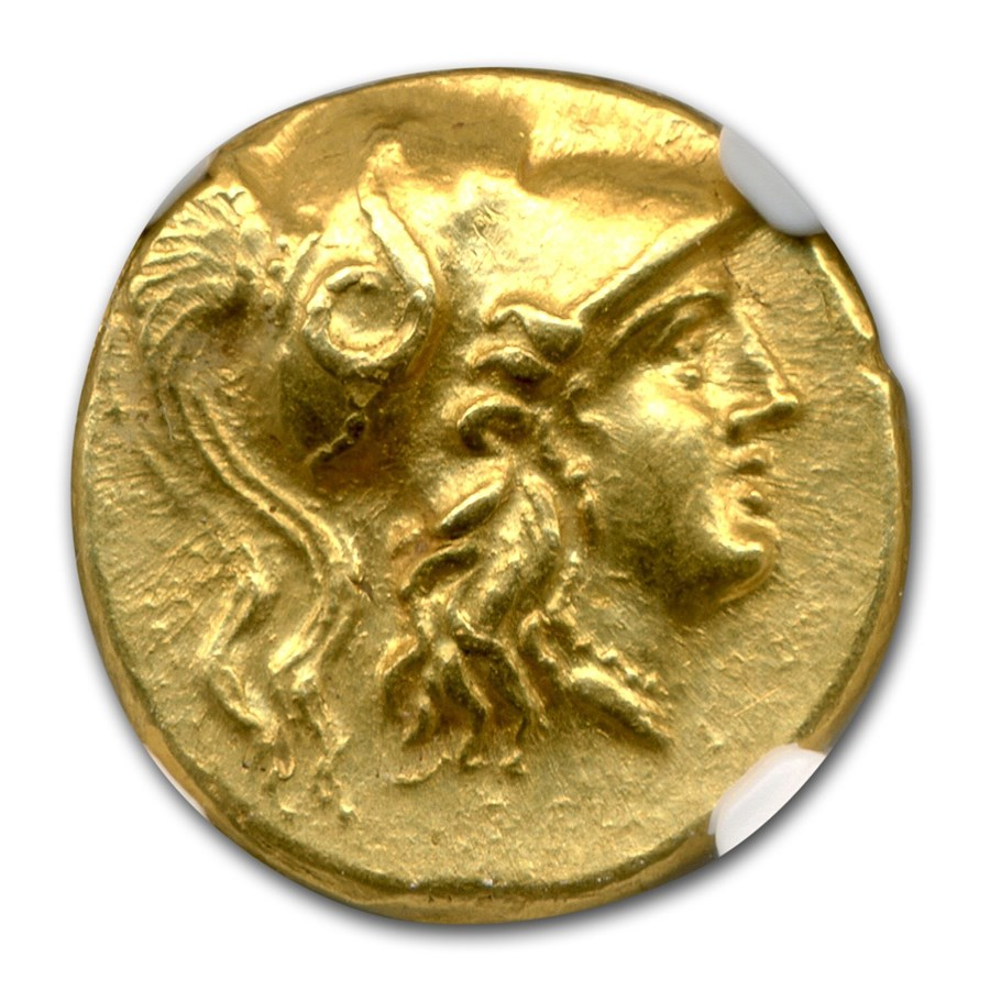 Macedonia Gold Stater of Alexander III (336-323 BC) AU NGC