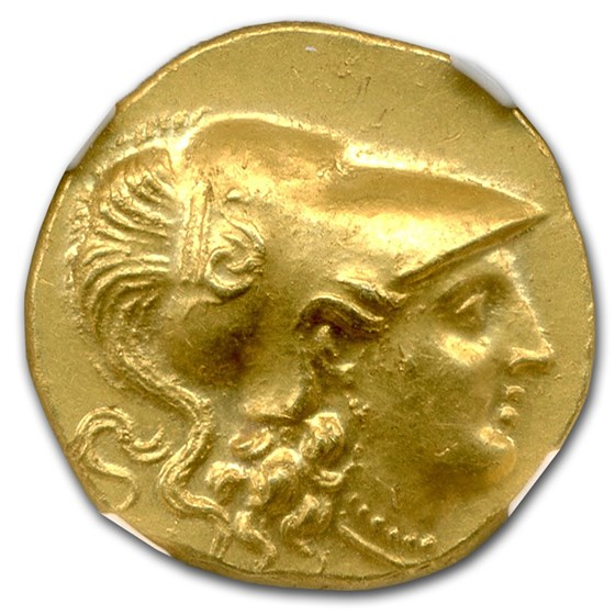 Macedonia Gold Stater of Alexander III (336-323 BC) MS NGC