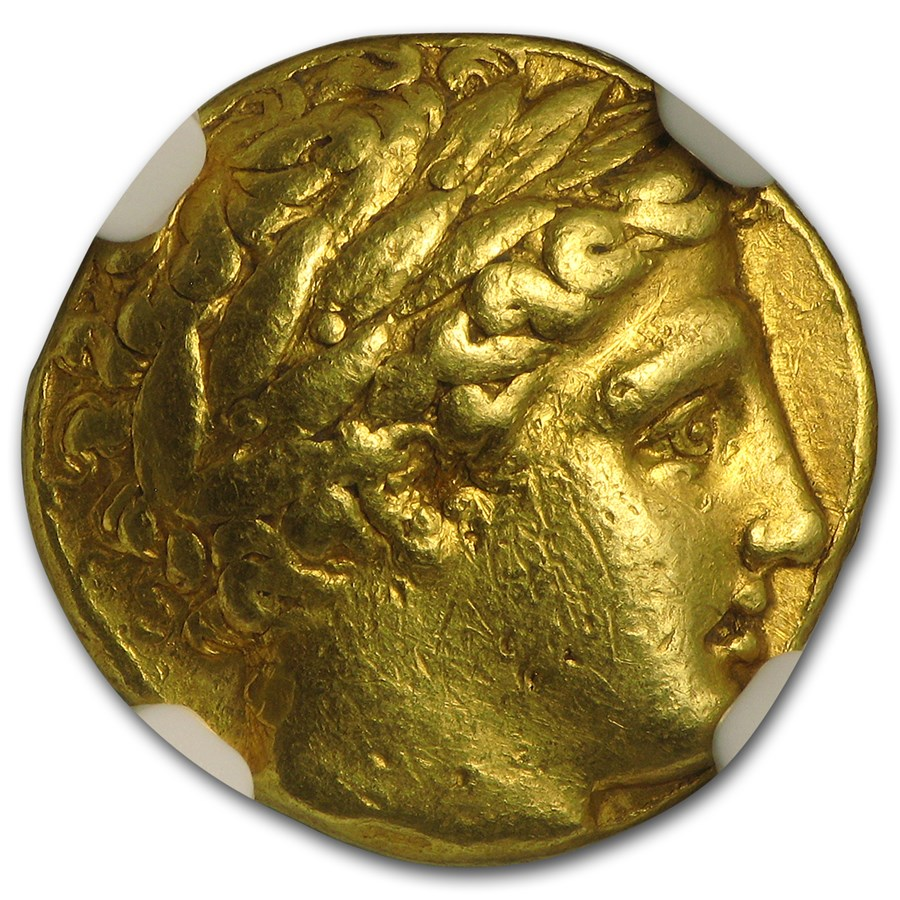 Macedonia Gold Stater of Philip II (359-336 BC) Ch VF NGC