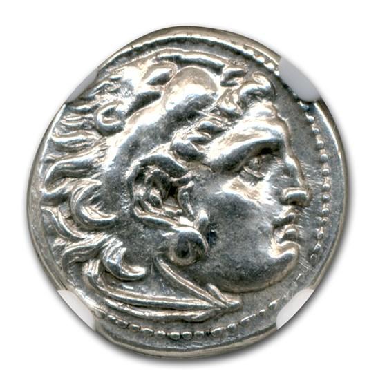 Macedonia Silver Drachm Emperor Alexander III (336-323 BC) MS NGC