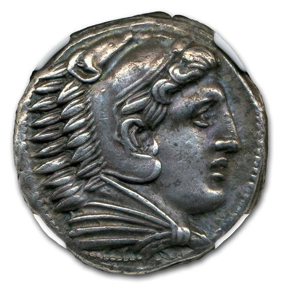 Macedonia Silver Tetradrachm Alexander III (336-323 BC) AU NGC