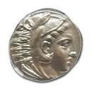 Macedonian Alexander III Tetradrachm (336-323 BC) AU NGC