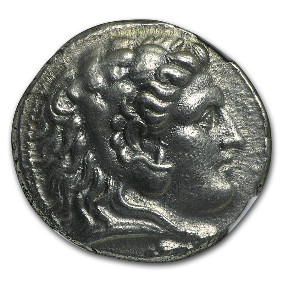 Macedonian Alexander III Tetradrachm AU NGC (336-323 BC)