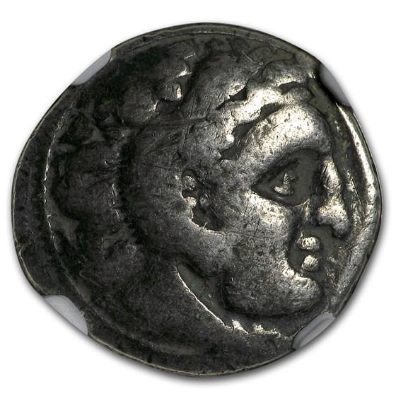 Macedonian AR Silver Drachm Alexander III (336-323 BC) VG NGC