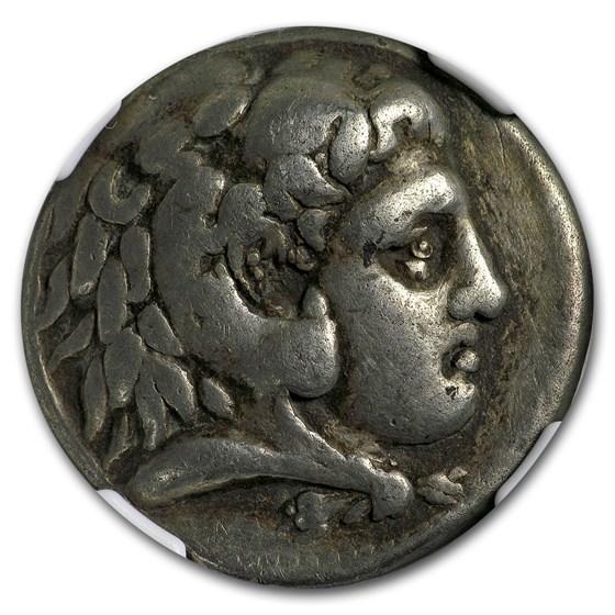 Macedonian AR Tetradrachm Phillip III (323-317 BC) Ch-Fine NGC
