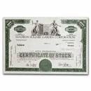 Madison Square Garden Corporation Stock Certificate