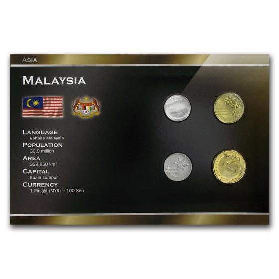 Malaysia 5 Sen- 50 Sen 4-Coin Set BU