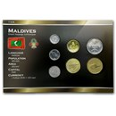 Maldives 1 Laari-2 Rufiyaa Coin Set BU
