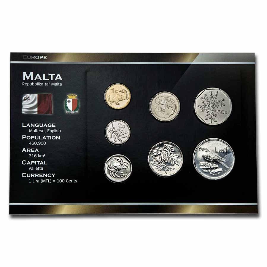 Malta Pre-Euro 7-Coin Set BU