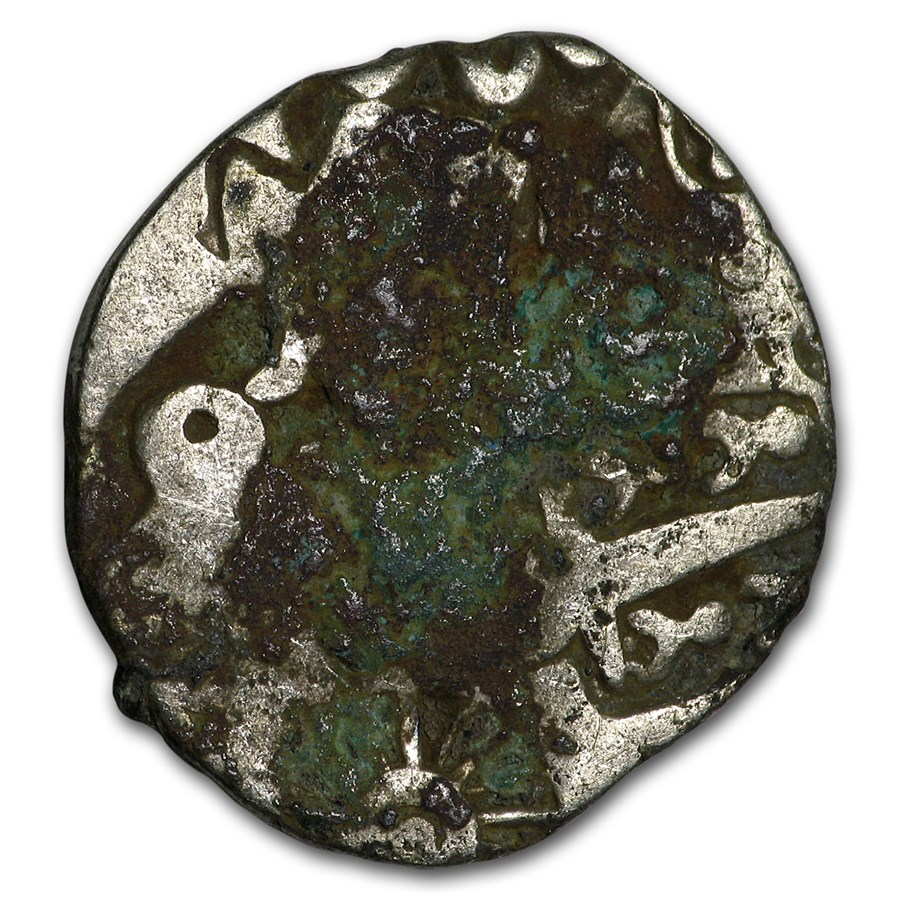 Mauryan Empire Silver Karshapana (322-185 BC) Fine (Corrosion)