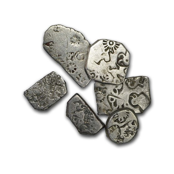 Mauryan Empire Silver Karshapana (322-185 BC) Fine