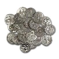 Medieval India Alor Dynasty Silver Drachm (632-711 AD) XF