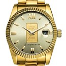 Men's 1 gram Gold Credit Suisse Gold Bracelet Watch
