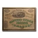 Merchants Union Express Company Stock Certificate (Circa 1860's)