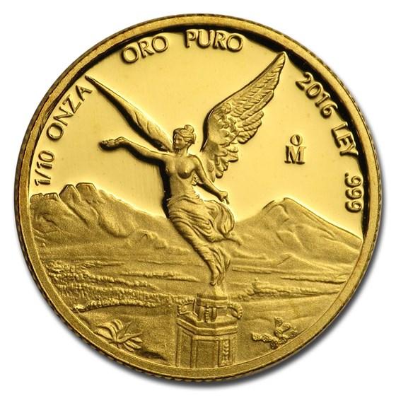 Mexico 1/10 oz Proof Gold Libertad (Random Year)