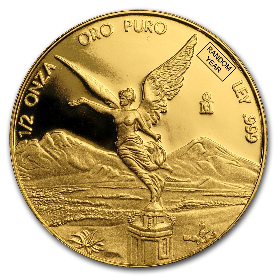 Mexico 1/2 oz Proof Gold Libertad (Random Year)