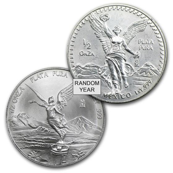 Mexico 1/2 oz Silver Libertad BU (Random Year)