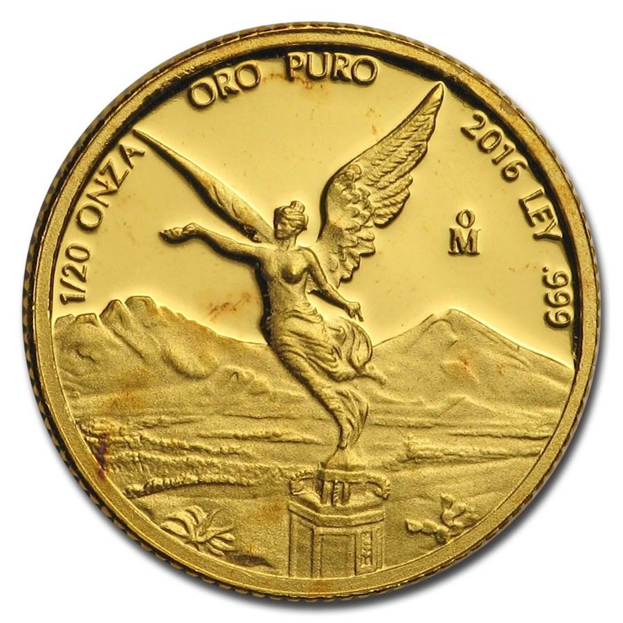 Mexico 1/20 oz Proof Gold Libertad (Random Year)