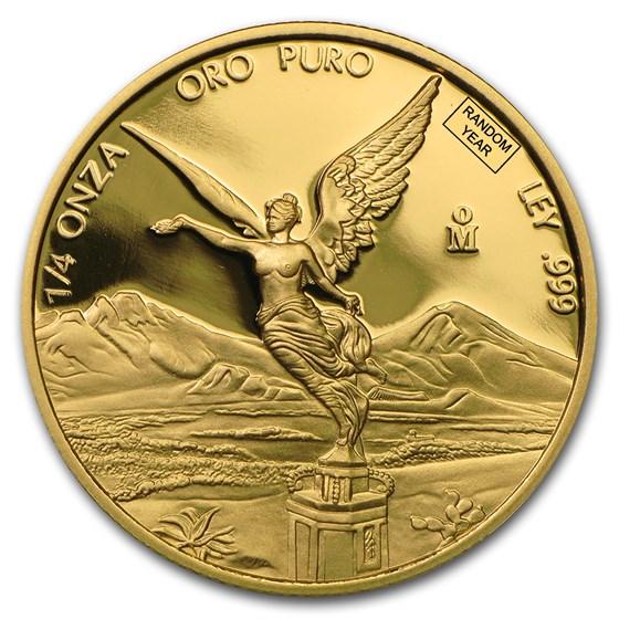 Mexico 1/4 oz Proof Gold Libertad (Random Year)