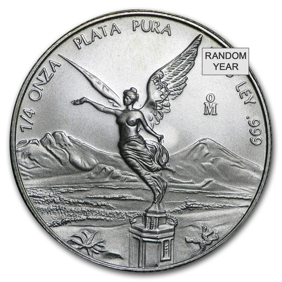 Mexico 1/4 oz Silver Libertad BU (Random Year)