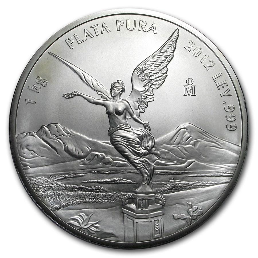 Mexico 1 kilo Silver Libertad BU (Random Year, Abrasions)