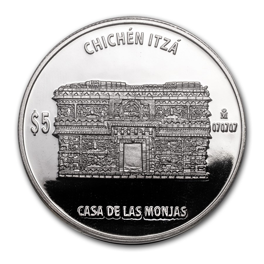 Mexico 1 oz Proof Silver Casa de las Monjas (The Nunnery)