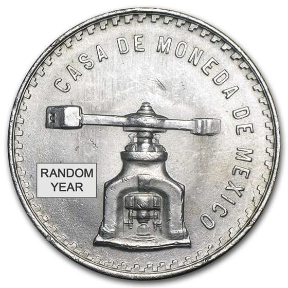 Mexico 1 oz Silver Onza Balance Scale (Random) AU-BU