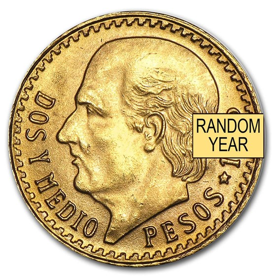 Mexico Gold 2 1/2 Pesos (Random) AU-BU