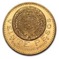 Mexico Gold 20 Pesos (Random Year) AU-BU