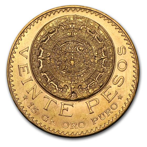 Mexico Gold 20 Pesos (Random Year) AU-BU