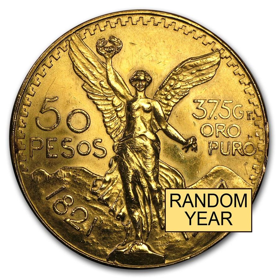 Mexico Gold 50 Pesos (Abrasions)