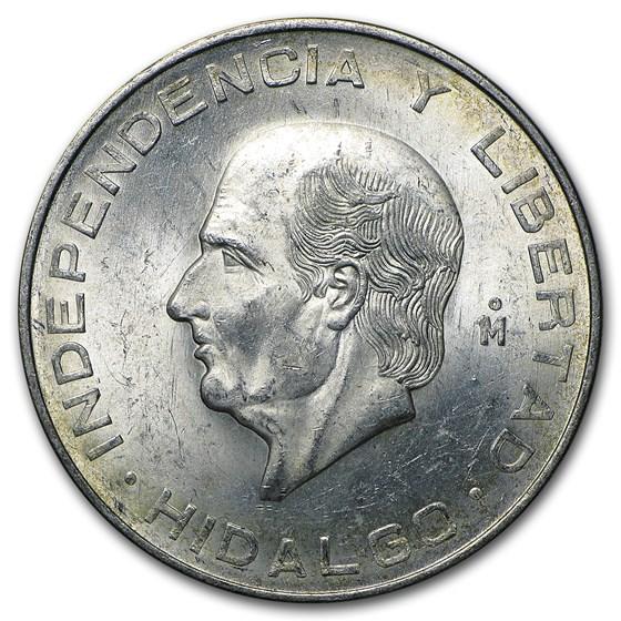 Mexico Silver 10 Pesos Hidalgo (1955-1956) AU-BU