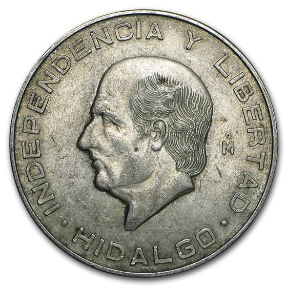 Mexico Silver 10 Pesos Hidalgo (1955-1956) XF-AU