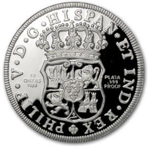 Mexico Silver 12 Onzas Pillar Dollar (Scruffy)