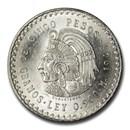 Mexico Silver 5 Pesos Cuauhtemoc (1947-1948) BU