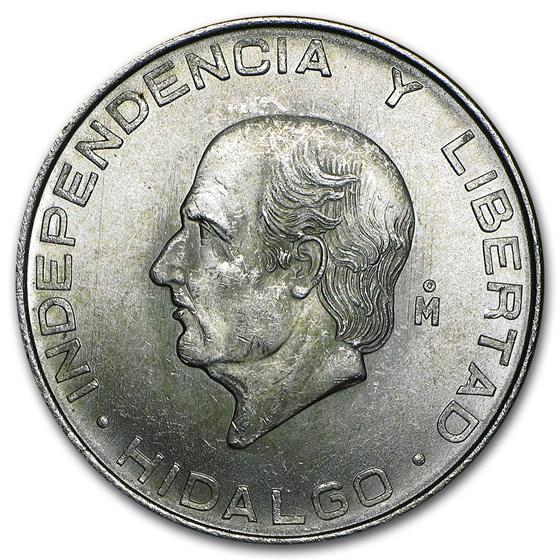 Mexico Silver 5 Pesos Hidalgo (1955-1957) XF-AU