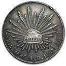 Mexico Silver 8 Reales Cap&Rays Avg Circ (ASW .7859 oz)