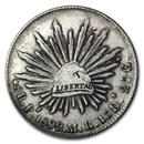 Mexico Silver 8 Reales Cap&Rays (Chopmark, ASW .7859 oz)
