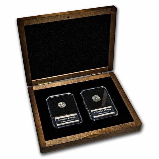 Middle Ages Silver Friesacher Pfennig: 2-Coin Presentation Set