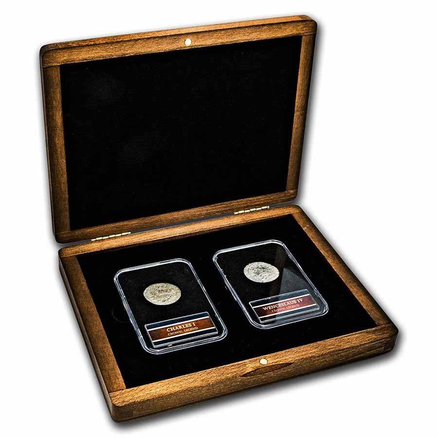 Middle Ages Silver Prague Groschen: 2-Coin Presentation Set