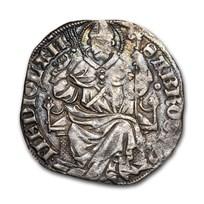 Milan Italian States Silver Pegione Barnabo Visconti 1349-1385 VF