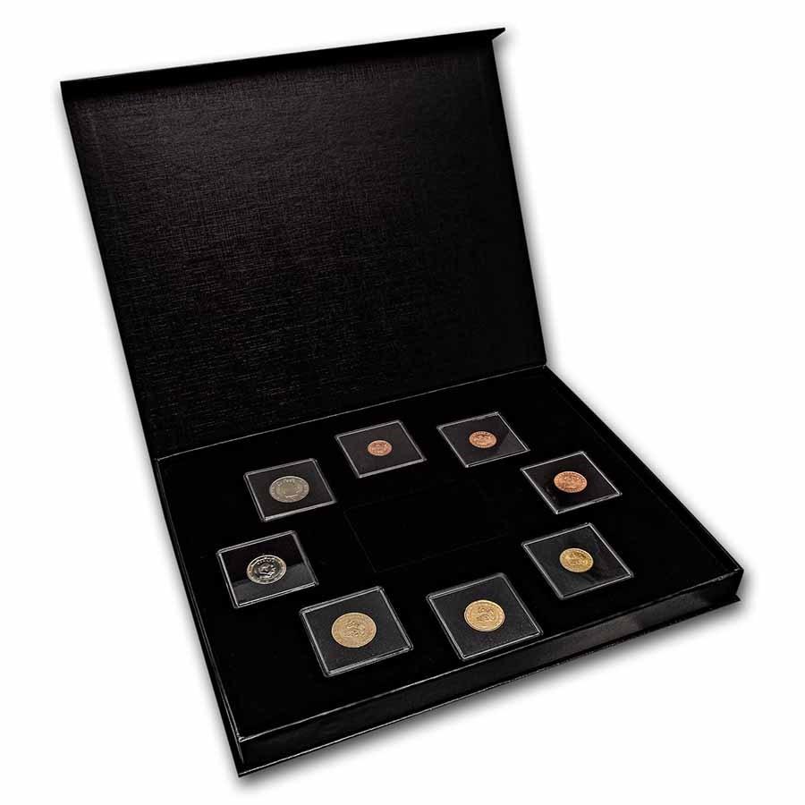 Monaco 1 Cent-2 Euro 8-Coin Euro Set BU