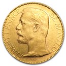 Monaco Gold 100 Francs Albert I XF (1882-1904)