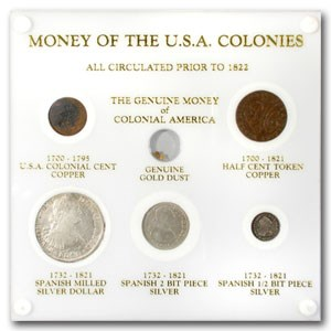 Money of the USA Colonies Set