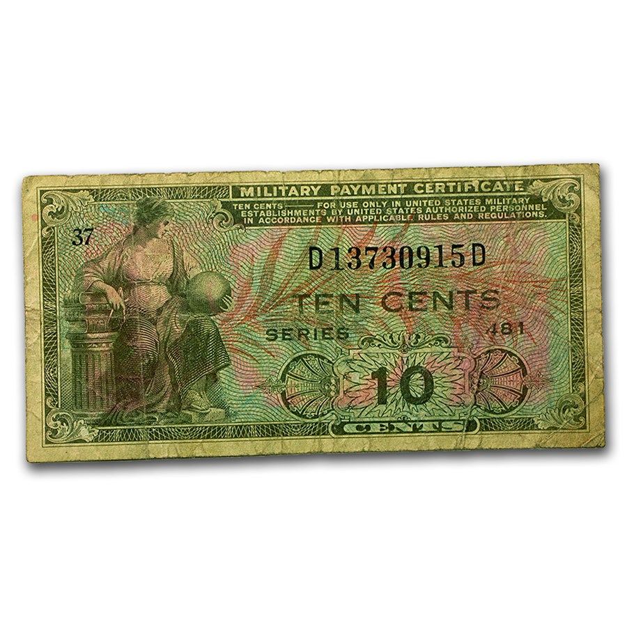 MPC Series 481 10 Cents Avg Circ