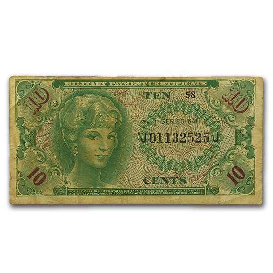 MPC Series 641 10 Cents Average Circ