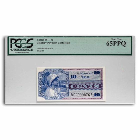 MPC Series 661 10 Cents Gem New CU-65 PPQ PCGS