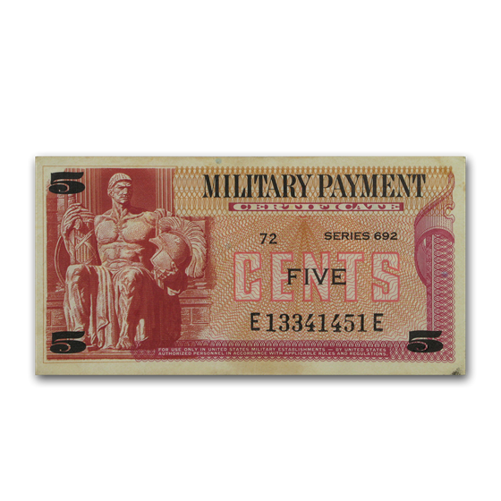 MPC Series 692 5 Cents VF